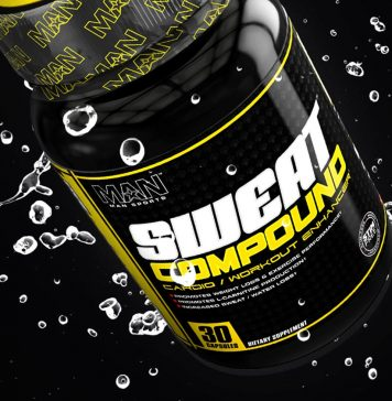 Man Sports Sweat Compound Cardio Supplement