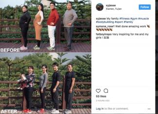 Chinesische Familie Transformation Instagram