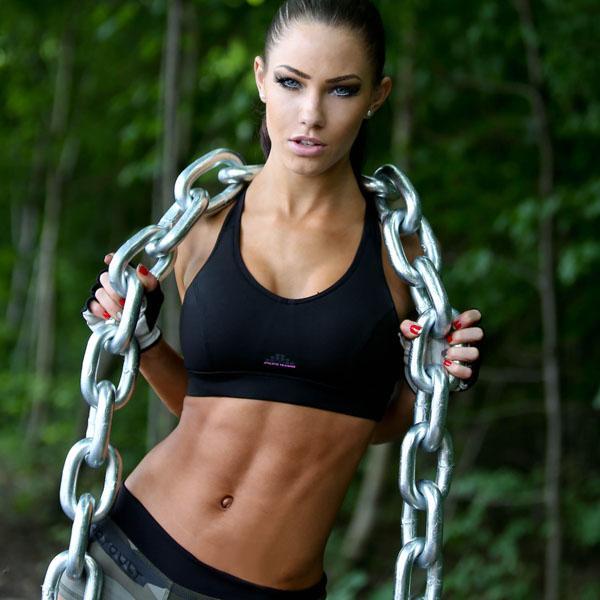 Frau trainierter körper Frauen Fitness: