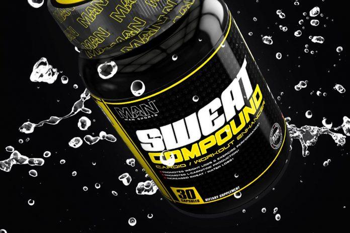 Man Sports Sweat Compound Cardio Supplement