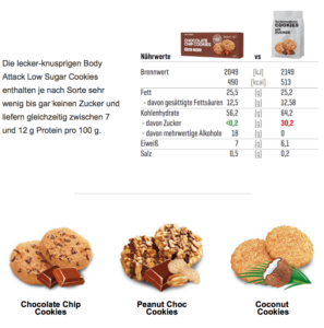 Body Attack Cookies