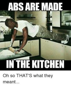 Bauchmuskeln werden in der Küche geformt